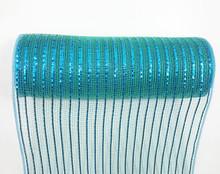 "Deco Mesh - 10"" x 10yd - Value Teal/Blue Metallic"