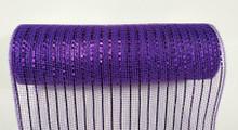 "Deco Mesh - 10"" x 10yd - Value Purple/Purple Laser"