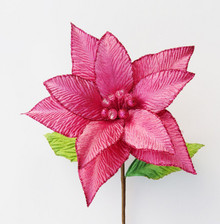 Poinsettia - Glitter/Velvet with Jewels 25cm