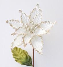 Poinsettia - Glitter 24cm