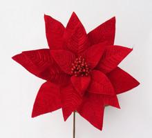 Poinsettia - Velvet 40cm