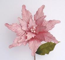 Poinsettia - Glitter/Velvet with Pearl 43cm
