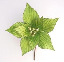Poinsettia - Glitter/Velvet 19cm