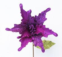Poinsettia - Velvet/Glitter 28cm