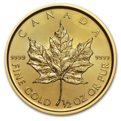 2019 Canadian Maple Leaf 1/2 oz Gold Coin