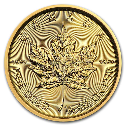 2019 Canadian Maple Leaf 1/4 oz Gold Coin