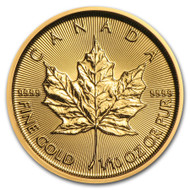 2019 Canadian Maple Leaf 1/10 oz Gold Coin