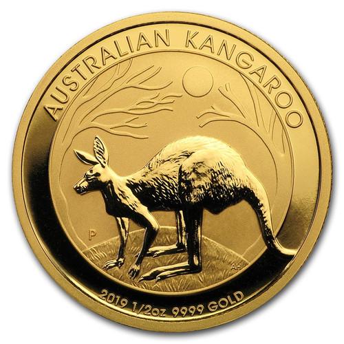 2019 Australian Kangaroo 1/2 oz Gold Coin