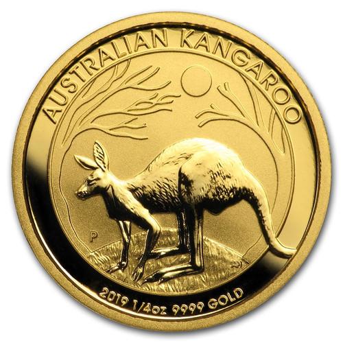 2019 Australian Kangaroo 1/4 oz Gold Coin
