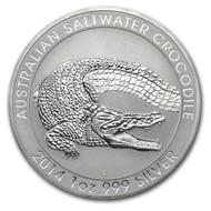 2014 Australian Saltwater Crocodile 1 oz Silver Coin