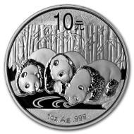 2013 China Panda 1 oz Silver Coin