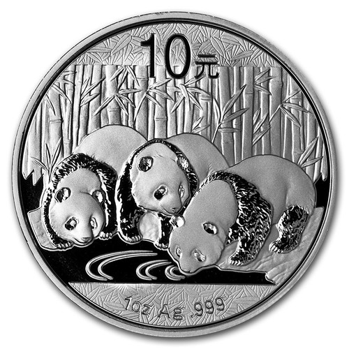 2013 China Panda 1 oz Silver Coin
