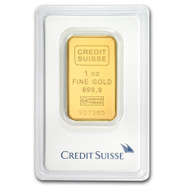 Credit Suisse 1 oz Gold Bar (In Assay)