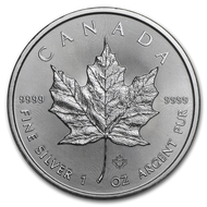 2019 Canadian Maple Leaf 1 oz Silver Coin