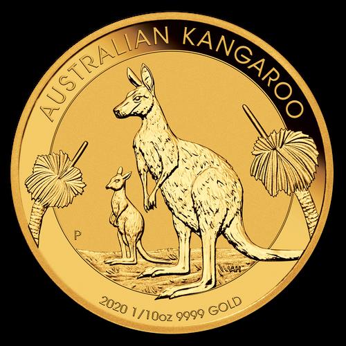 2020 Australian Kangaroo 1/10 oz Gold Coin