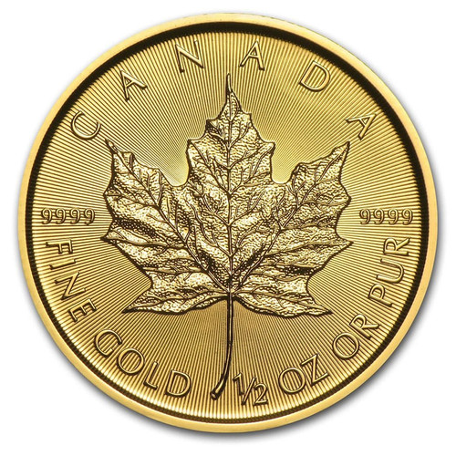 2020 Canadian Maple Leaf 1/2 oz Gold Coin