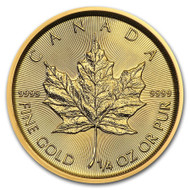2020 Canadian Maple Leaf 1/4 oz Gold Coin