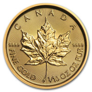 2020 Canadian Maple Leaf 1/10 oz Gold Coin