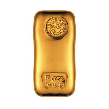 Perth Mint 5 oz Gold Bar