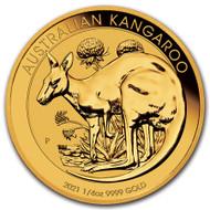 2021 Australian Kangaroo 1/4 oz Gold Coin