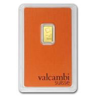 Valcambi 1 gram Gold Bar (In Assay)