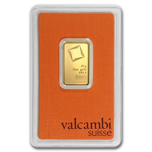 Valcambi 10 gram Gold Bar (In Assay)
