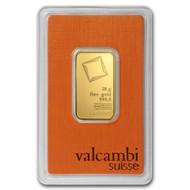 Valcambi 20 gram Gold Bar (In Assay)