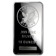 Sunshine Mint 10 oz Silver Bar