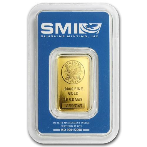 Sunshine Mint 10 gram Gold Bar (In TEP Packaging)