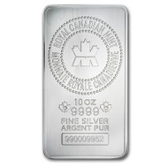 Royal Canadian Mint 10 oz Silver Bar