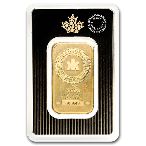 Royal Canadian Mint 1 oz Gold Bar (In Assay)