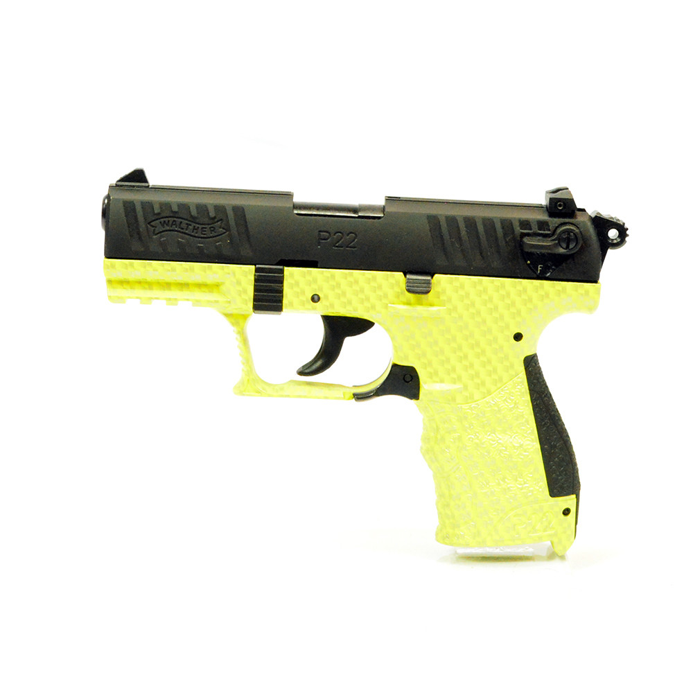 Walther P22 - 22LR Lime Green Carbon Fiber