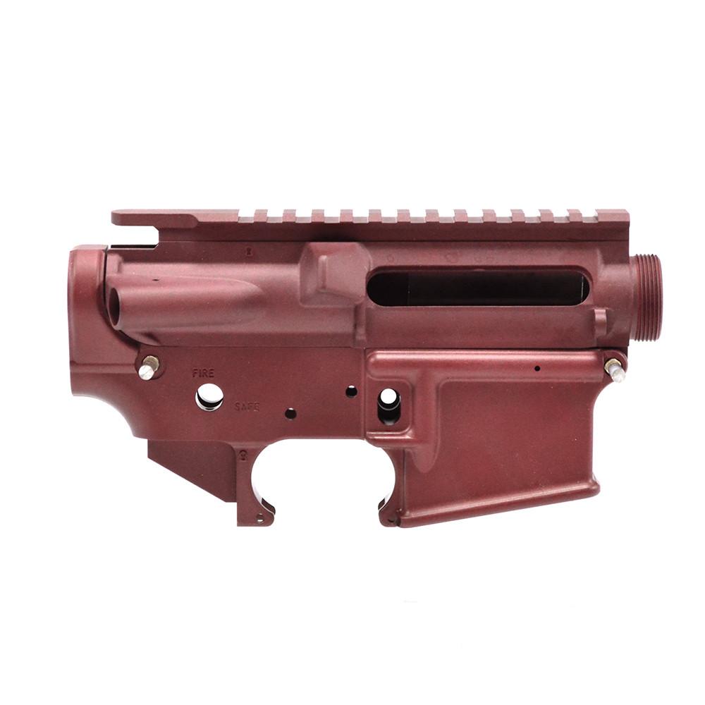 Bushmaster Red AR-15 Mil-Spec Stripped Lower/ Upper Receiver - 223 Rem/  5 56 NATO