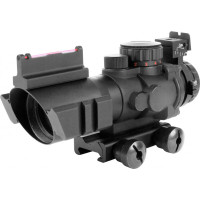 AIM Sports Recon 4X32MM Scope with Fiber Optic Sight and Rapid Ranging Reticle