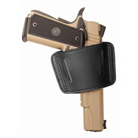 Blackhawk Sportster Leather Belt Slide Holster - Ambidextrous - Black