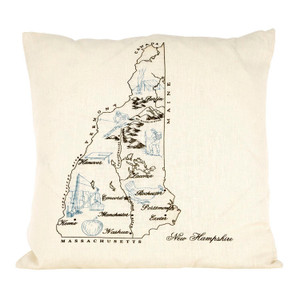 New Hampshire Ox Bow Pillow