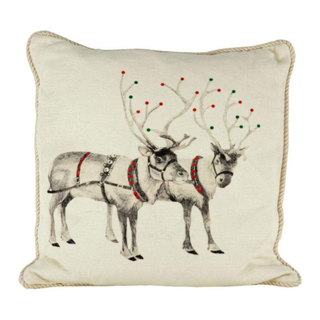 Holiday Reindeer Ox Bow Pillow