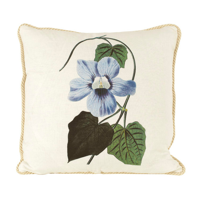Thunbergia Ox Bow Linen Pillow