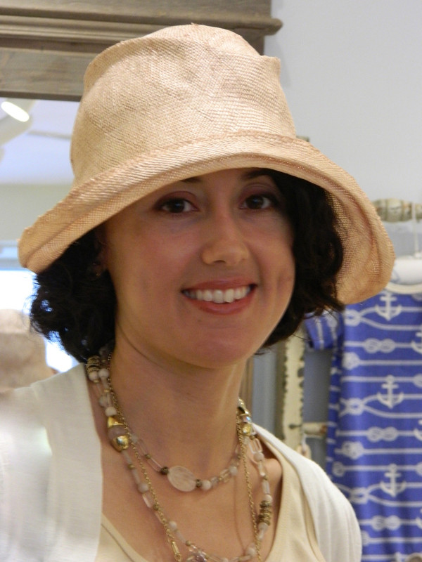 Tea rose Gill Fox summer hat. Perfect for a wedding or garden party