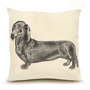 Eric & Christopher pillow - Dachsund
