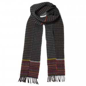 Wallace Sewell Scarf- Lambswool Honeycomb (Black)