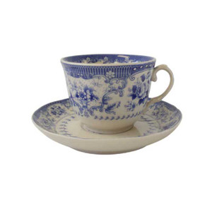 Powell Craft - Blue Rose China Tea Cup and Saucer