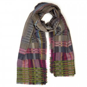 Wallace Sewell Wool Chevron Wrap - Festival Fawn