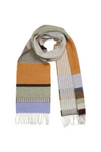 Wallace Sewell lambs, wool scarf - Glebe sage