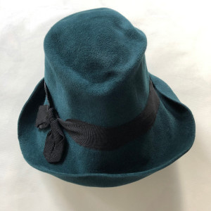 Gil Fox Hat -  Felt Cloche, rich teal
