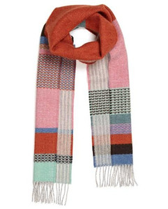 Wallace Sewell scarf Glebe - Orange