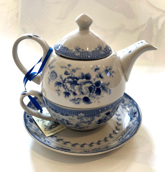 Powell Craft  one cup teapot - china blue