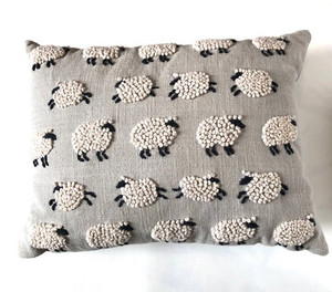 Embroidered - Sheep Pillow