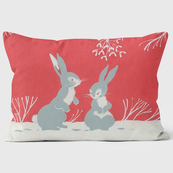 Two Rabbits Under the Mistletoe - Front