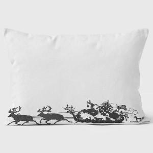 Sleigh Silhouette Pillow